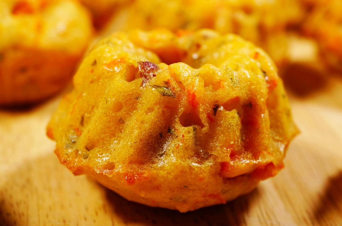 Kürbis-Speck-Muffin / Mini-Kürbis-Gugelhupf