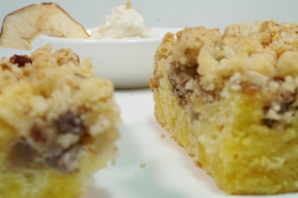 Apfel-Streuselkuchen mit Maronen
