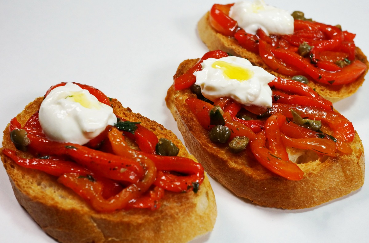 Bruschetta Paprika- dieWintervariante