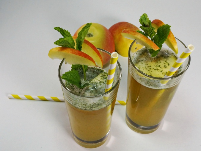 Apple Mint Cooler Minze Apfelsaft Schorle DSC06634a