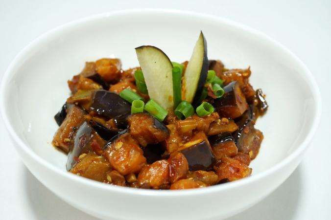 Eggplant Mapo chin Auberginen Szechuan Art DSC01288a.JPG