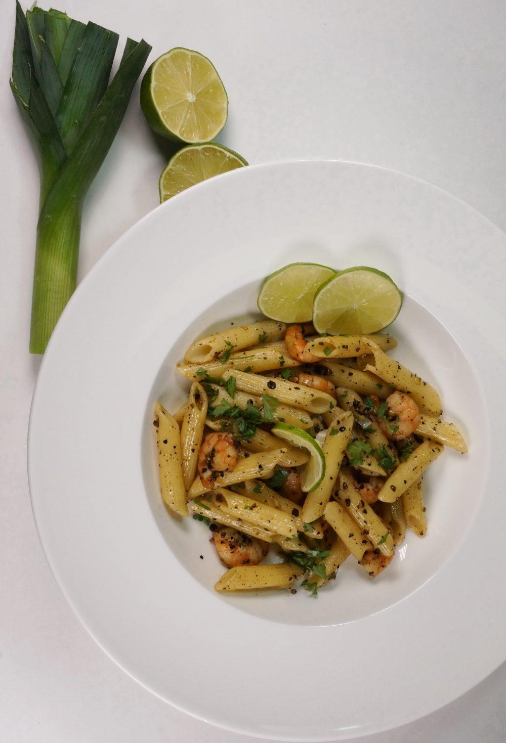 Pasta auf kambodschanische Art mit Black Kampot Pepper &Shrimps